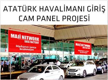 Atatürk Havalimanı Giriş Cam Panel Projesi